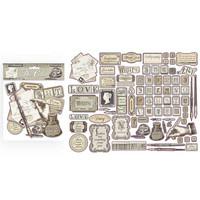 Stamperia - Calligraphy, Die Cuts, 76 kpl