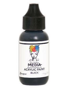 Dina Wakley Media - Acrylic Paint, Black, 29ml