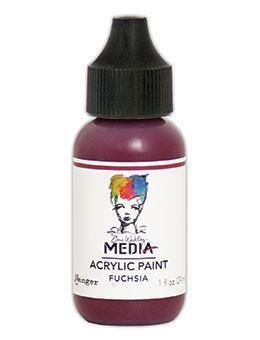 Dina Wakley Media - Acrylic Paint, Fuchsia, 29ml