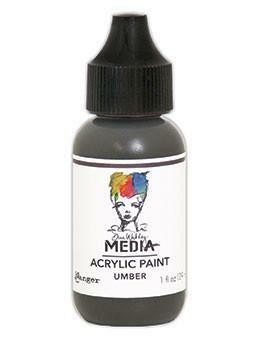 Dina Wakley Media - Acrylic Paint, Umber, 29ml