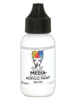 Dina Wakley Media - Acrylic Paint, White, 29ml