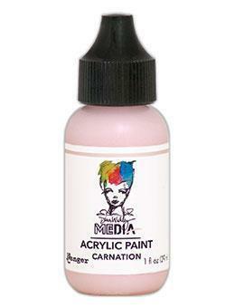 Dina Wakley Media - Acrylic Paint, Carnation, 29ml