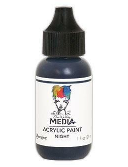 Dina Wakley Media - Acrylic Paint, Night, 29ml