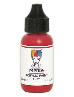 Dina Wakley Media - Acrylic Paint, Ruby, 29ml