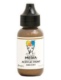 Dina Wakley Media - Metallic Acrylic Paint, Ancient, 29ml