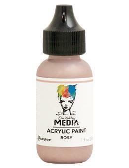 Dina Wakley Media - Metallic Acrylic Paint, Rosy, 29ml