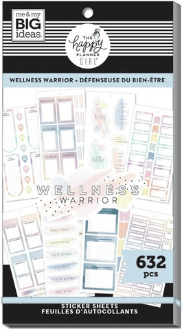 MAMBI - Happy Planner, Wellness Warrior, Tarrasetti, 30arkkia