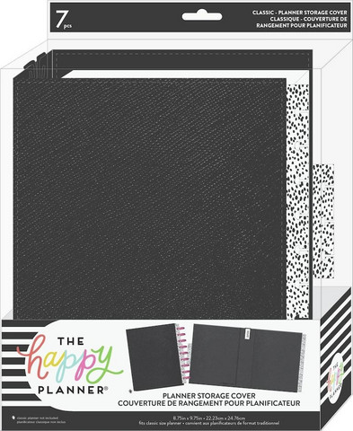Mambi - Classic Planner Storage Cover, Black Dots