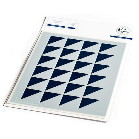 Pinkfresh Studio - Stencil A2, Mirrored Triangles