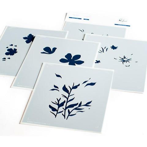 Pinkfresh Studio - Stencils A2, Garden Florals