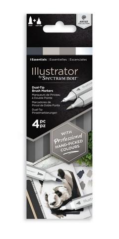 Spectrum Noir Illustrator, 4kpl, Essentials
