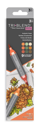 Spectrum Noir - Triblend Brush Markers, 3kpl, Autumn Hues