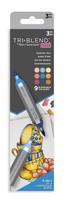 Spectrum Noir - Triblend Brush Markers, 3kpl, Summer Sun
