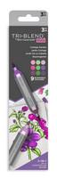 Spectrum Noir - Triblend Brush Markers, 3kpl, Cottage Garden