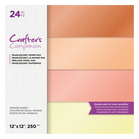 Crafter's Companion - Orange Sunset, Pearl Pad 12