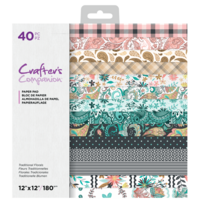 Crafter's Companion - Traditional Florals, Paper Pad 12
