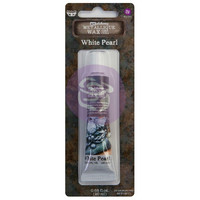 Prima Marketing - Finnabair Art Alchemy Metallique Wax, White Pearl