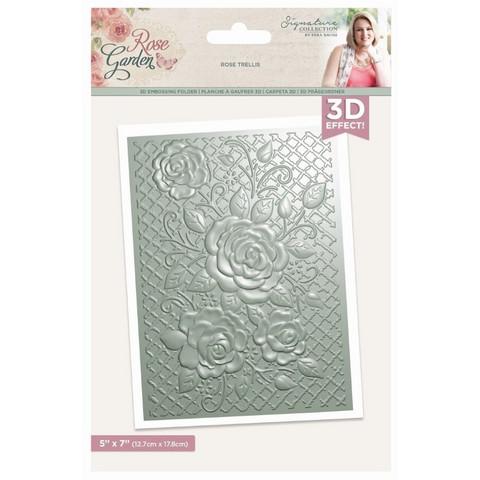 Crafter`s Companion - Sara Signature Collection Rose Garden, 3D Kohokuviointitasku, Rose Trellis
