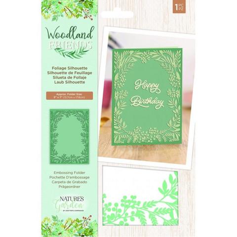 Crafter`s Companion - Woodland Friends, Kohokuviointitasku, Foliage Silhouette
