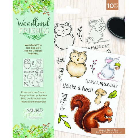 Crafter`s Companion - Woodland Friends, Leimasetti, Woodland Trio