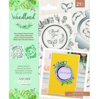 Crafter`s Companion - Woodland Friends, Leima- ja Stanssisetti, Flourishing Floral Frame