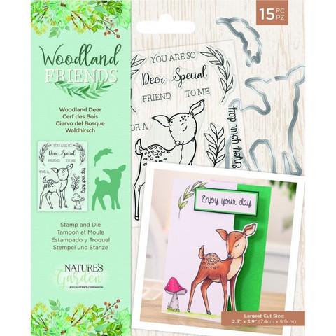 Crafter`s Companion - Woodland Friends, Leima- ja Stanssisetti, Woodland Deer