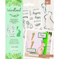 Crafter`s Companion - Woodland Friends, Leima- ja Stanssisetti, Woodland Bunny