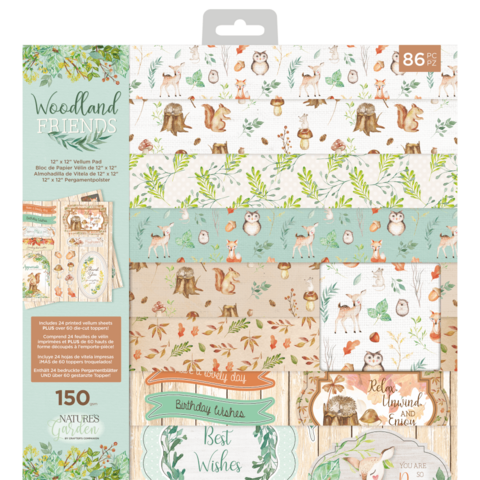 Crafter`s Companion - Woodland Friends, Vellum, 12