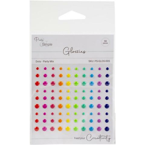 Pure & Simple - Enamel Dots, 90 kpl, Party Mix
