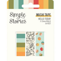 Simple Stories - Hello Today, Washi Tape, 3 rullaa