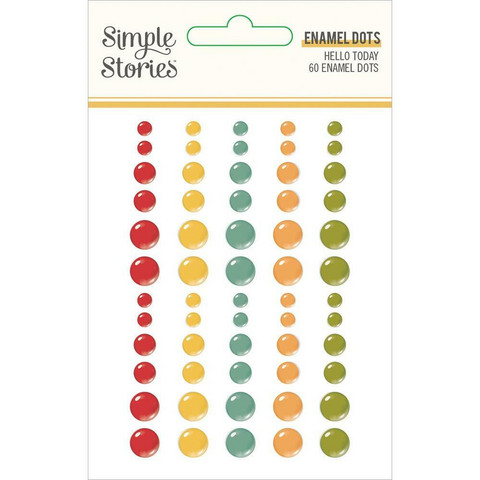 Simple Stories - Hello Today Enamel Dots, 60 kpl