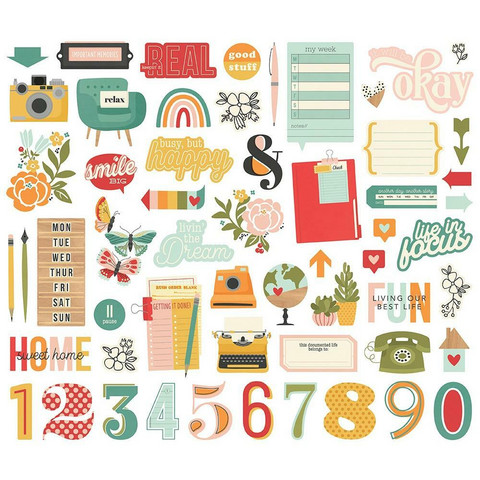 Simple Stories - Hello Today Bits & Pieces, 57 osaa