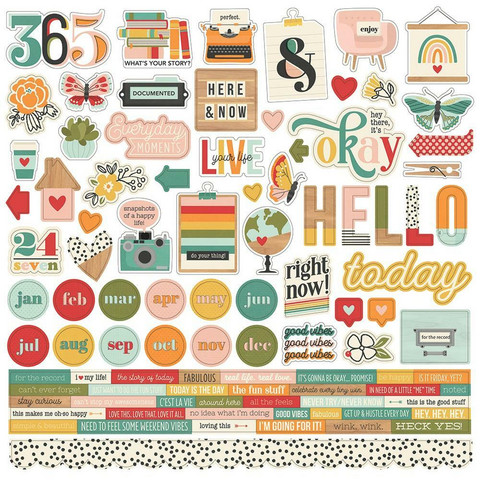 Simple Stories - Hello Today Cardstock Stickers 12