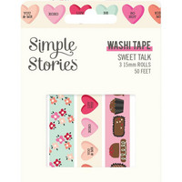 Simple Stories - Sweet Talk, Washi Tape, 3 rullaa