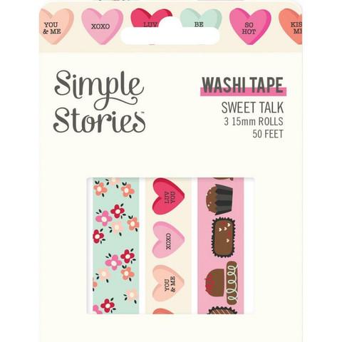 Simple Stories - Sweet Talk, Washi Tape, 3 rullaa