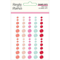 Simple Stories - Sweet Talk Enamel Dots, 60 kpl