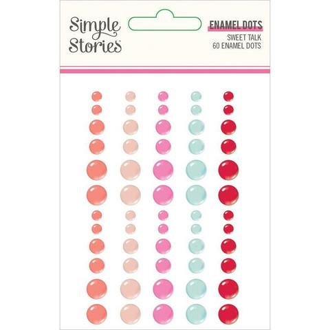 Simple Stories - Sweet Talk Enamel Dots, 60 kpl