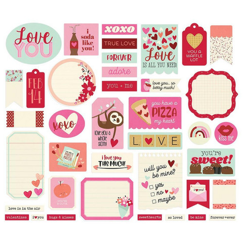Simple Stories - Sweet Talk Journal Bits & Pieces, 39 osaa