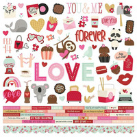 Simple Stories - Sweet Talk Cardstock Stickers 12