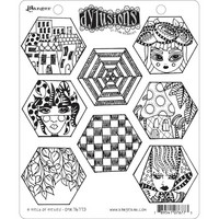 Dyan Reaveley's Dylusions - Cling Stamp Collections, A Heck Of Hexies