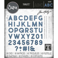 Sizzix - Thinlits Dies By Tim Holtz, Stanssisetti, Alphanumeric Bold