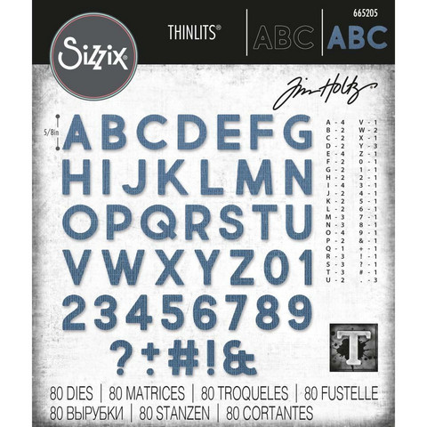Sizzix - Thinlits Dies By Tim Holtz, Stanssisetti, Alphanumeric Bold