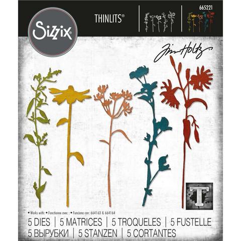 Sizzix - Thinlits Dies By Tim Holtz, Stanssisetti, Brushstroke Flowers #3