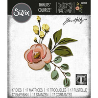 Sizzix - Thinlits Dies By Tim Holtz, Stanssisetti, Bloom Colorize