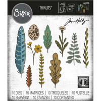 Sizzix - Thinlits Dies By Tim Holtz, Stanssisetti, Funky Nature