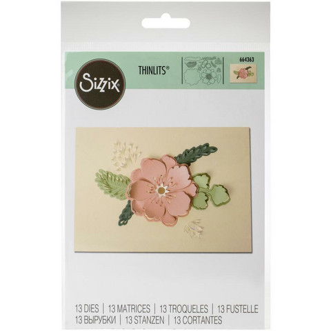 Sizzix -Thinlits Dies, Stanssisetti, Peony Pop-Up