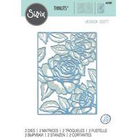Sizzix -Thinlits Dies By Jessica Scott, Stanssisetti, Floral Lattice