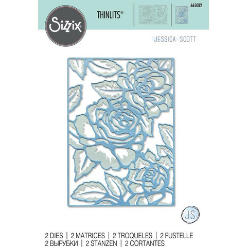 Sizzix -Thinlits Dies By Jessica Scott, Stanssisetti, Floral Lattice