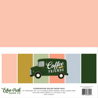 Echo Park - Coffee & Friends Solids Kit, 12