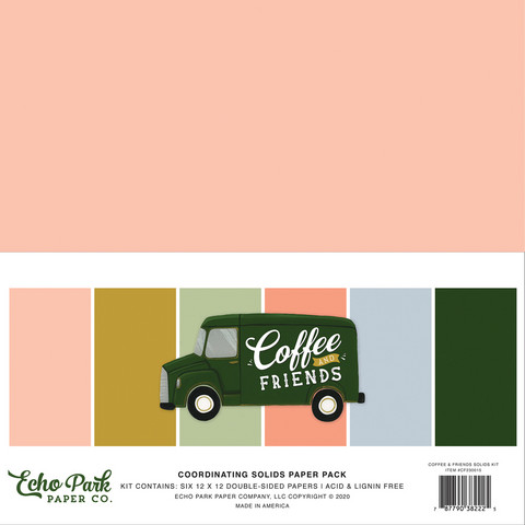 Echo Park - Coffee & Friends Solids Kit, 12